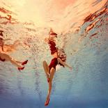 woman on pool