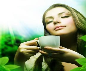 woman on tea